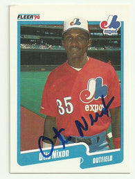 Otis Nixon Signed 1990 Fleer Baseball Card - Montreal Expos