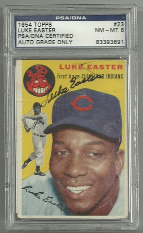 Luke Easter Signed 1954 Topps Baseball Card – PSA/DNA Certified