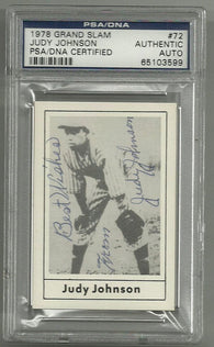 Judy Johnson Signed 1978 Grand Slam Baseball Card – PSA/DNA Certified