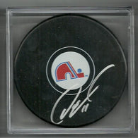 Owen Nolan Signed Hockey Puck - Quebec Nordiques