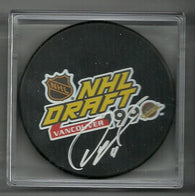 Owen Nolan Signed Hockey Puck - 1990 NHL Draft - PastPros