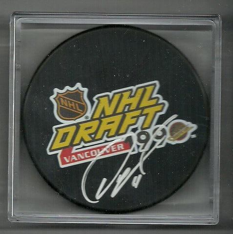 Owen Nolan Signed Hockey Puck - 1990 NHL Draft