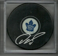 Owen Nolan Signed Hockey Puck - Toronto Maple Leafs - PastPros