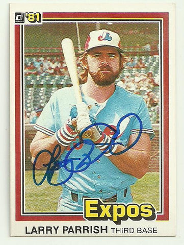 Larry Parrish Signed 1981 Donruss Baseball Card - Montreal Expos - PastPros