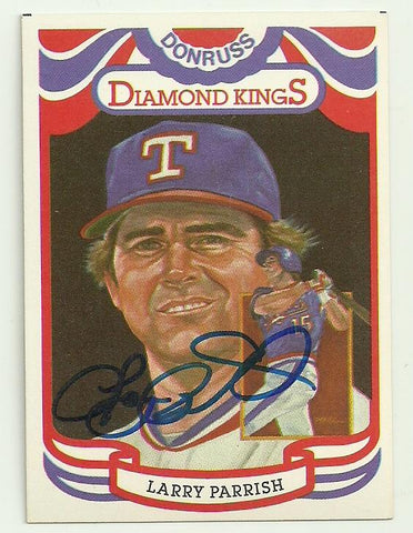 Larry Parrish Signed 1983 Donruss Diamond Kings Baseball Card - Texas Rangers - PastPros