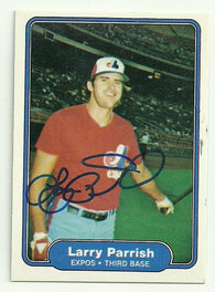 Larry Parrish Signed 1982 Fleer Baseball Card - Montreal Expos - PastPros