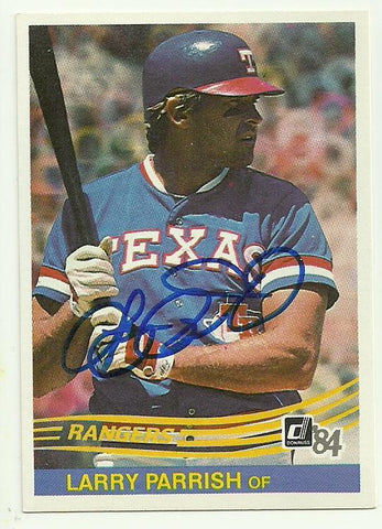 Larry Parrish Signed 1984 Donruss Baseball Card - Texas Rangers - PastPros