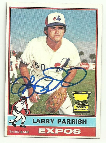 Larry Parrish Signed 1976 Topps Baseball Card - Montreal Expos