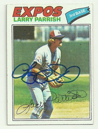 Larry Parrish Signed 1977 Topps Baseball Card - Montreal Expos