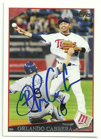 Orlando Cabrera Signed 2009 Topps Baseball Card - Minnesota Twins