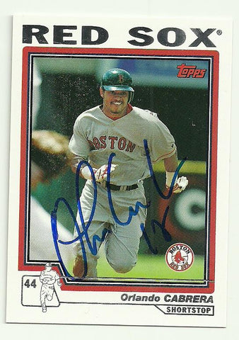 Orlando Cabrera Signed 2004 Topps Baseball Card - Boston Red Sox