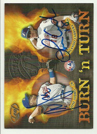 Orlando Cabrera & Jose Vidro Dual Signed 2002 Donruss Burn 'n Turn Baseball Card - Montreal Expos