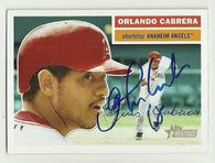 Orlando Cabrera Signed 2004 Topps Heritage Baseball Card - Anaheim Angels