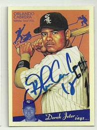 Orlando Cabrera Signed 2008 Goudey Upper Deck Baseball Card - Chicago White Sox