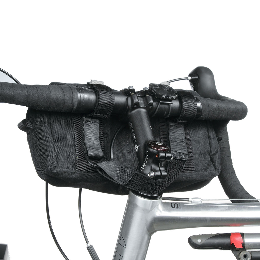 Shown with straps attaching the 2035 bag to the bike