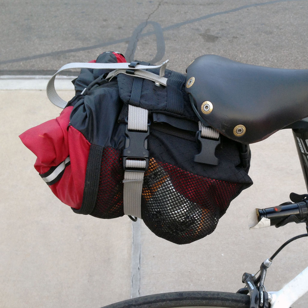 Bags are held in an almost horizontal position.