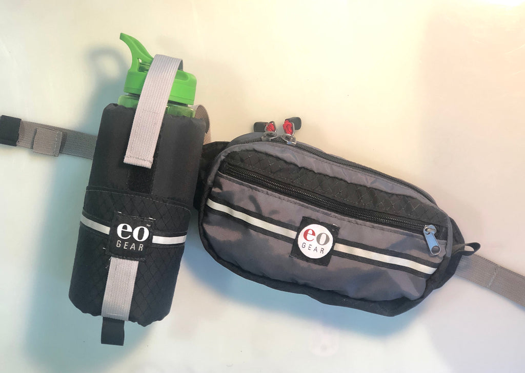Add an optional pouch to hold a bike-size (700 mL) bottle.
