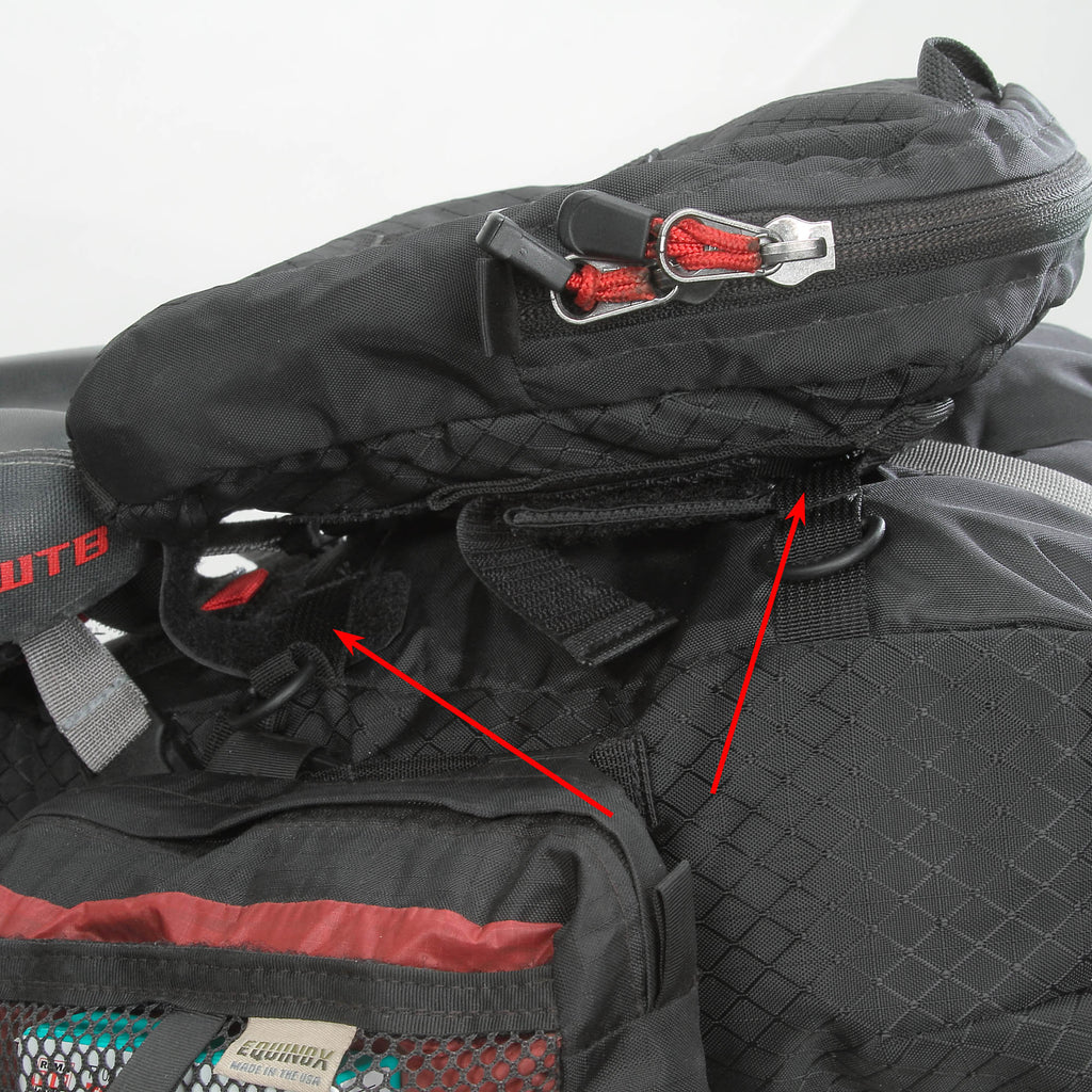 The 2.5 Pocket attaches in four places for maximum stability (two on each side).