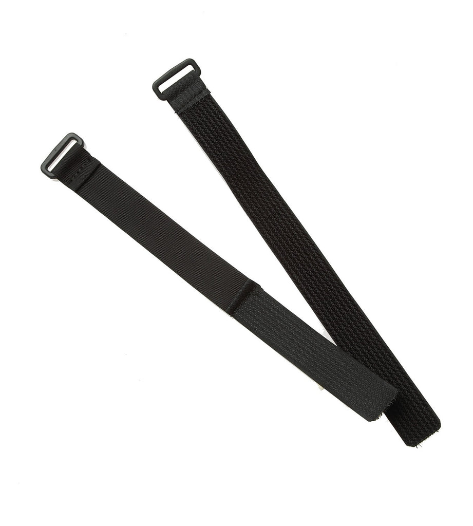 The set now has one strap with a D-ring and one with a rectangular loop as shown.
