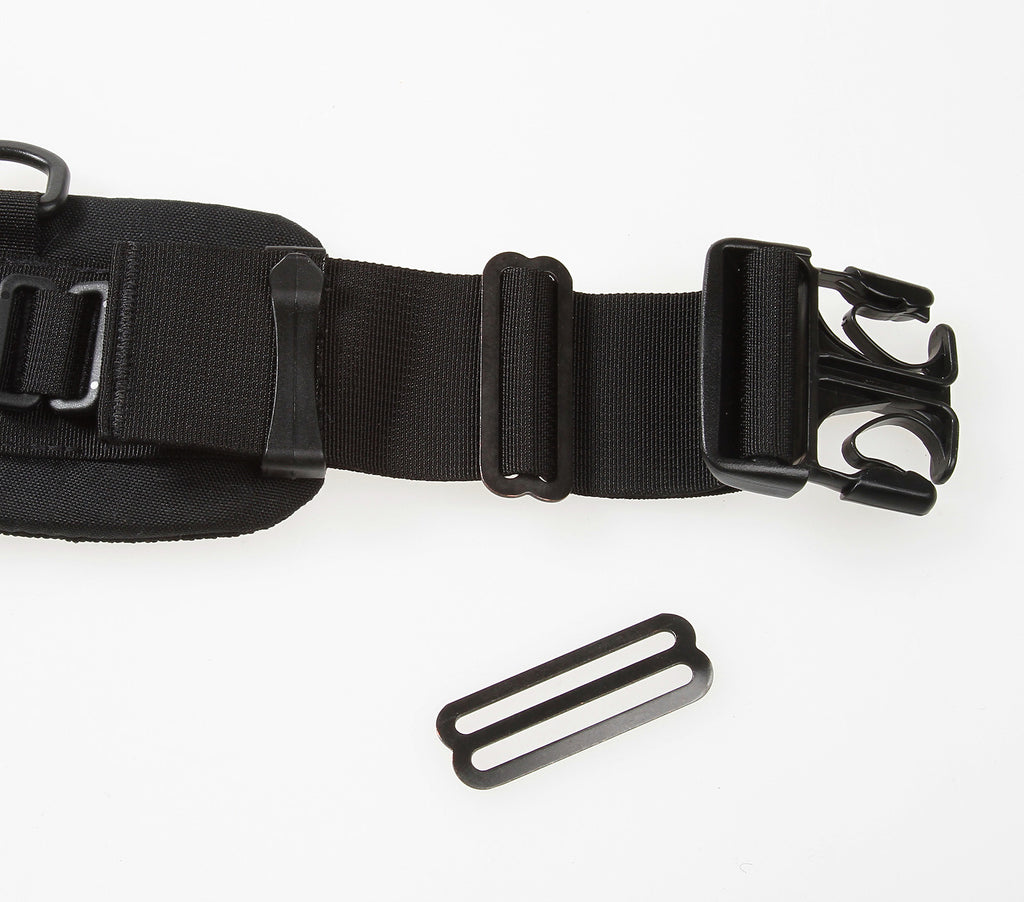 B501 attaches to one or both ends of a belt, securing the webbing from slipping.