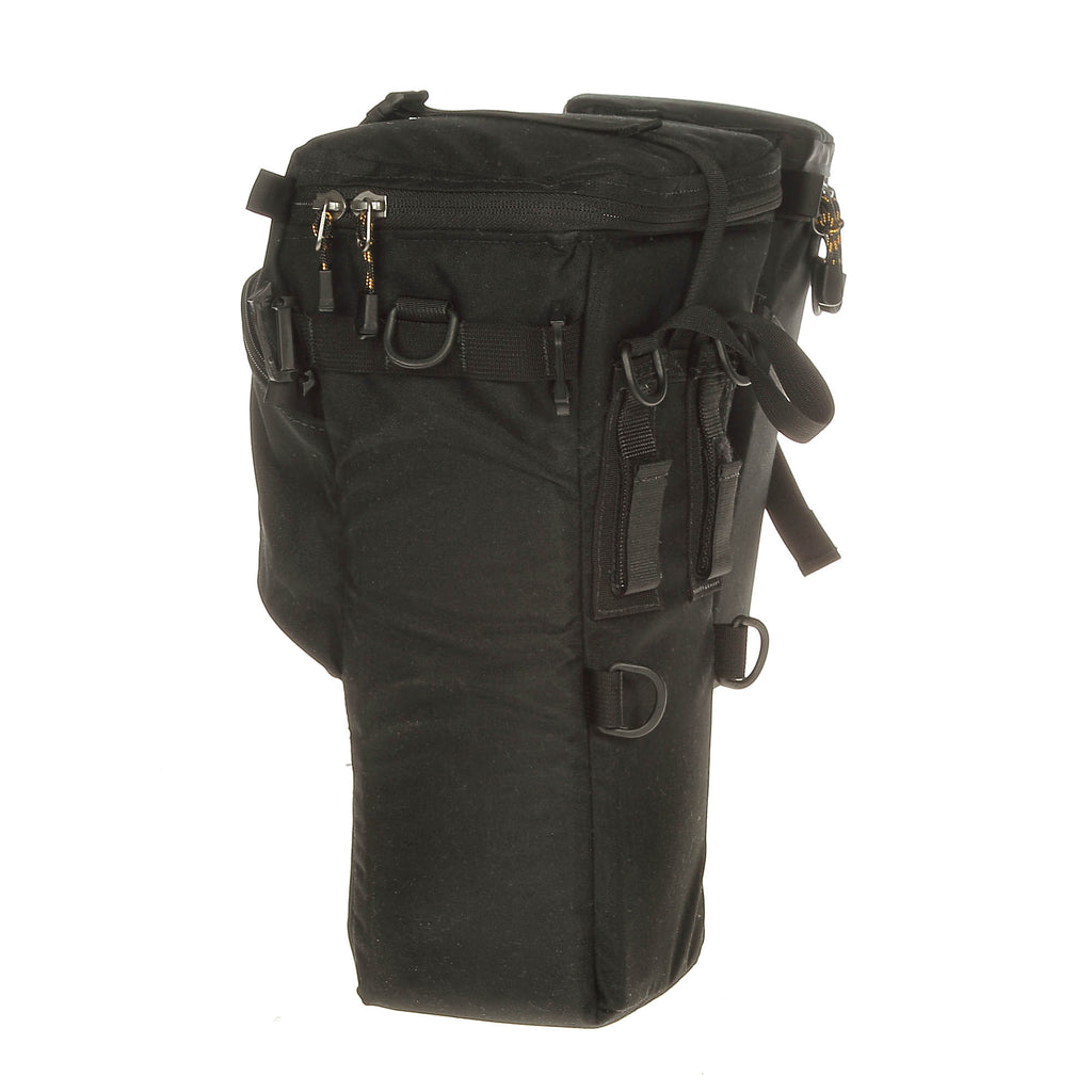 Side view showing webbing slots for attaching pouches. Siamese SlikClip buckles are for attaching old-style TwinBuckle pouches & can be removed.