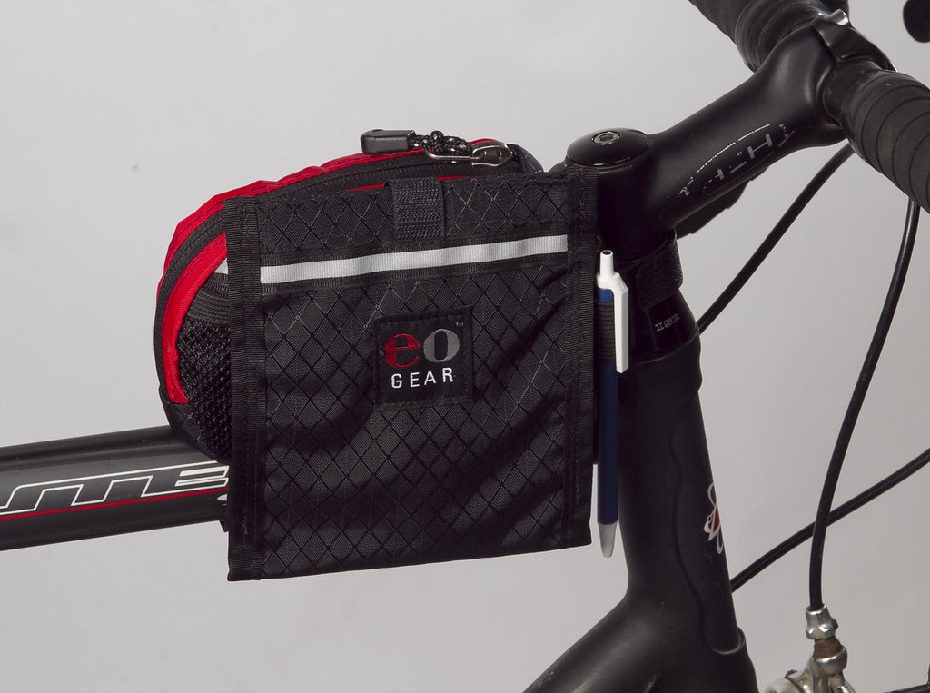 "Pouch can mount ""centered"" on the Top Tube Century Bag"