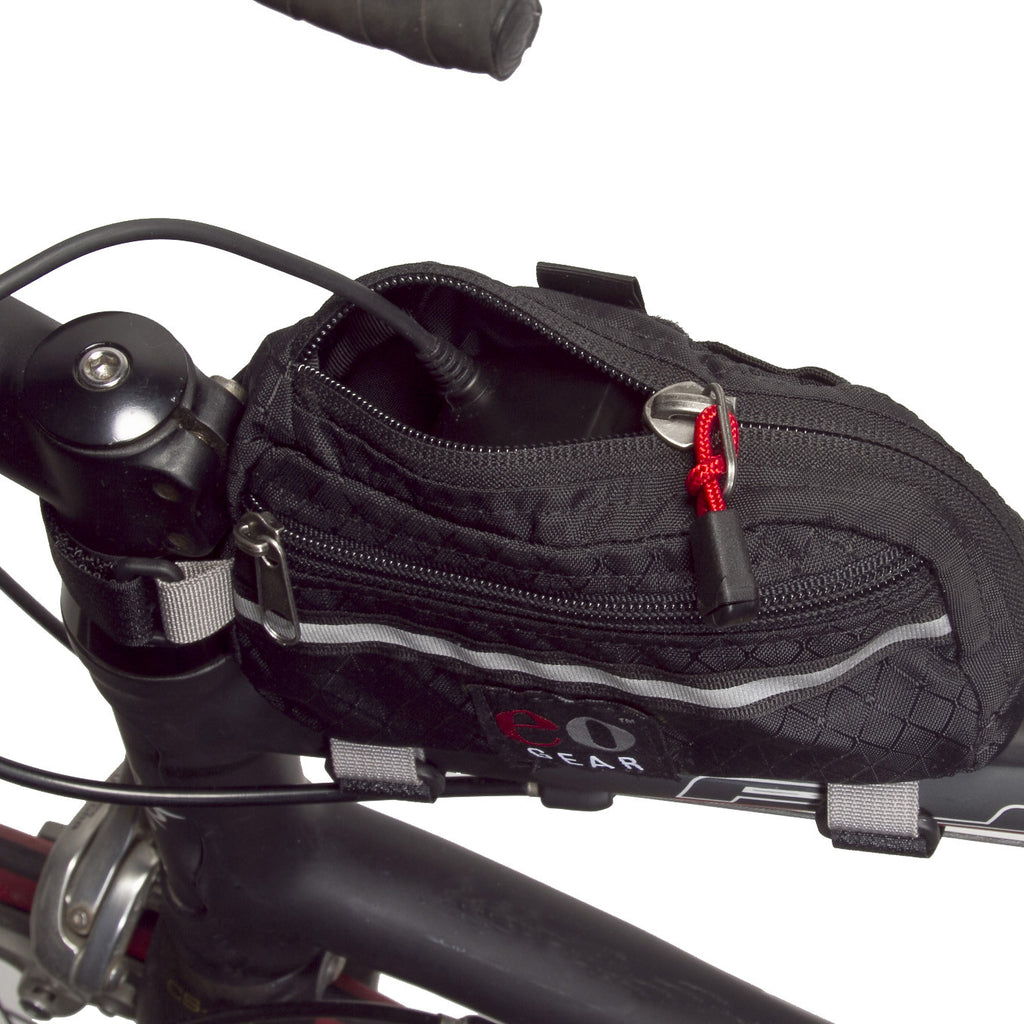 The zipper opens in such in a convenient manner for GPS or light battery cables.