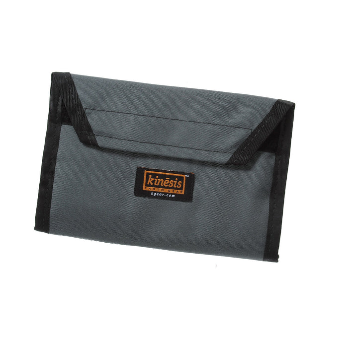 D012 — 12-Card Media Wallet / Gray + Orange