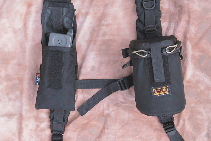Use the H150 adapter to attach small pouches to the harness.