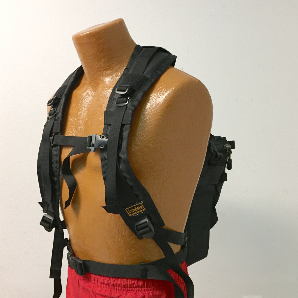 Wear a holster case as a backpack: shown is the H344 harness combined with an H170 strap set.