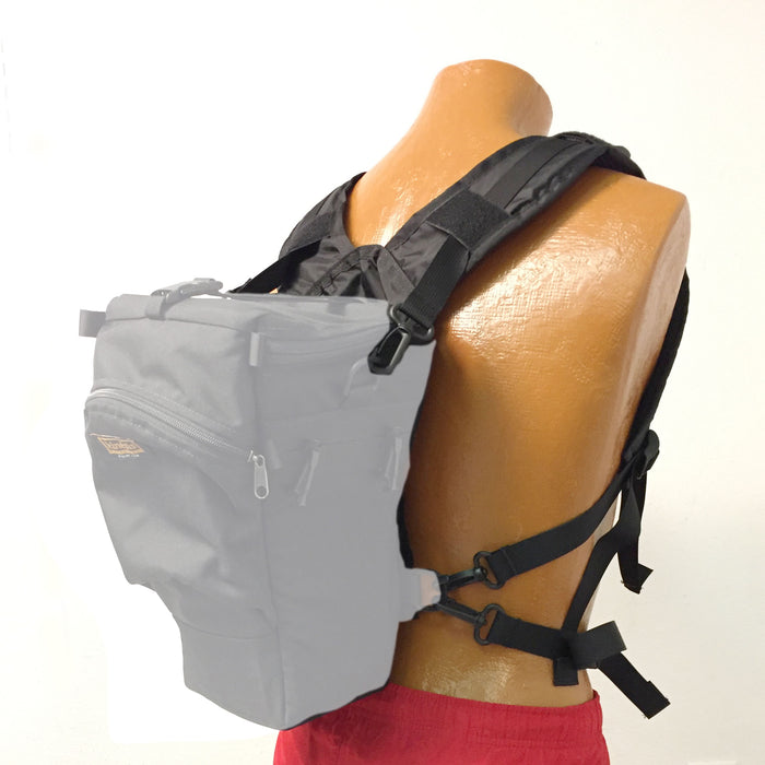 This package includes three straps and the front half of the H344 harness.
