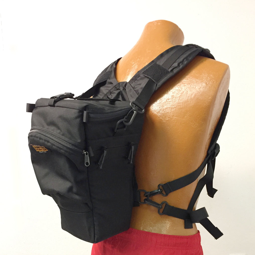 Back view showing optional H175 attached to holster case.