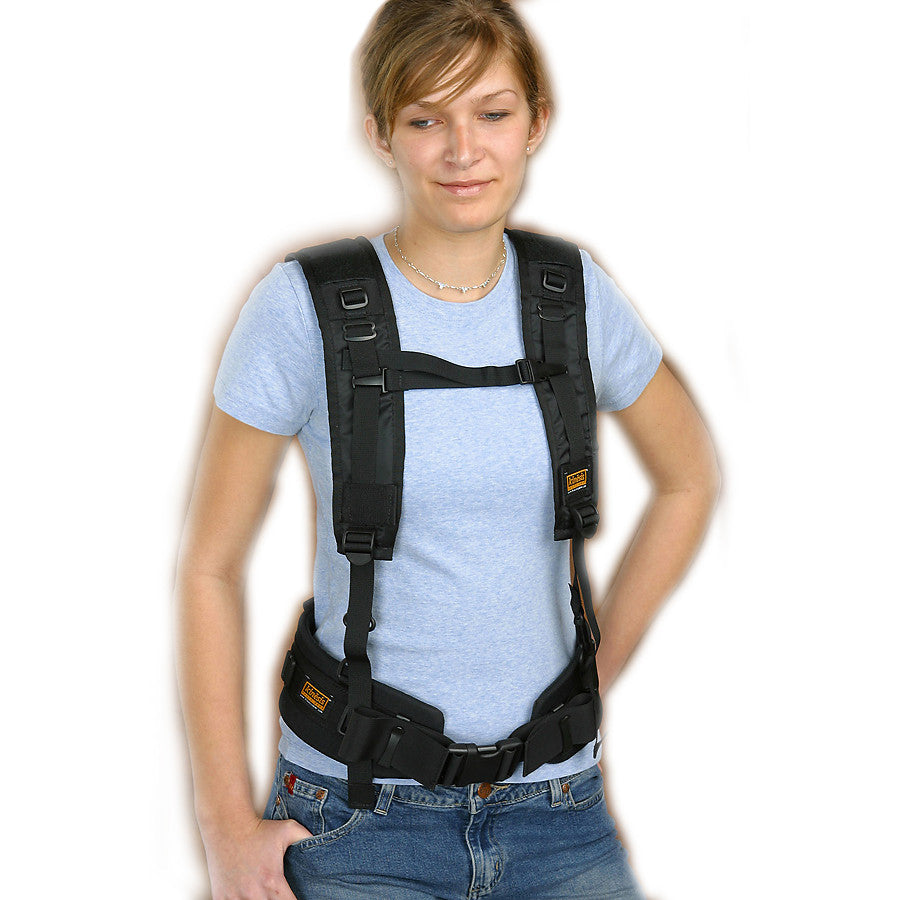 Y-Harness with waist belt (belt not included)