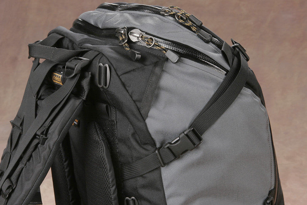 Journeyman with harness & lifter straps, side view