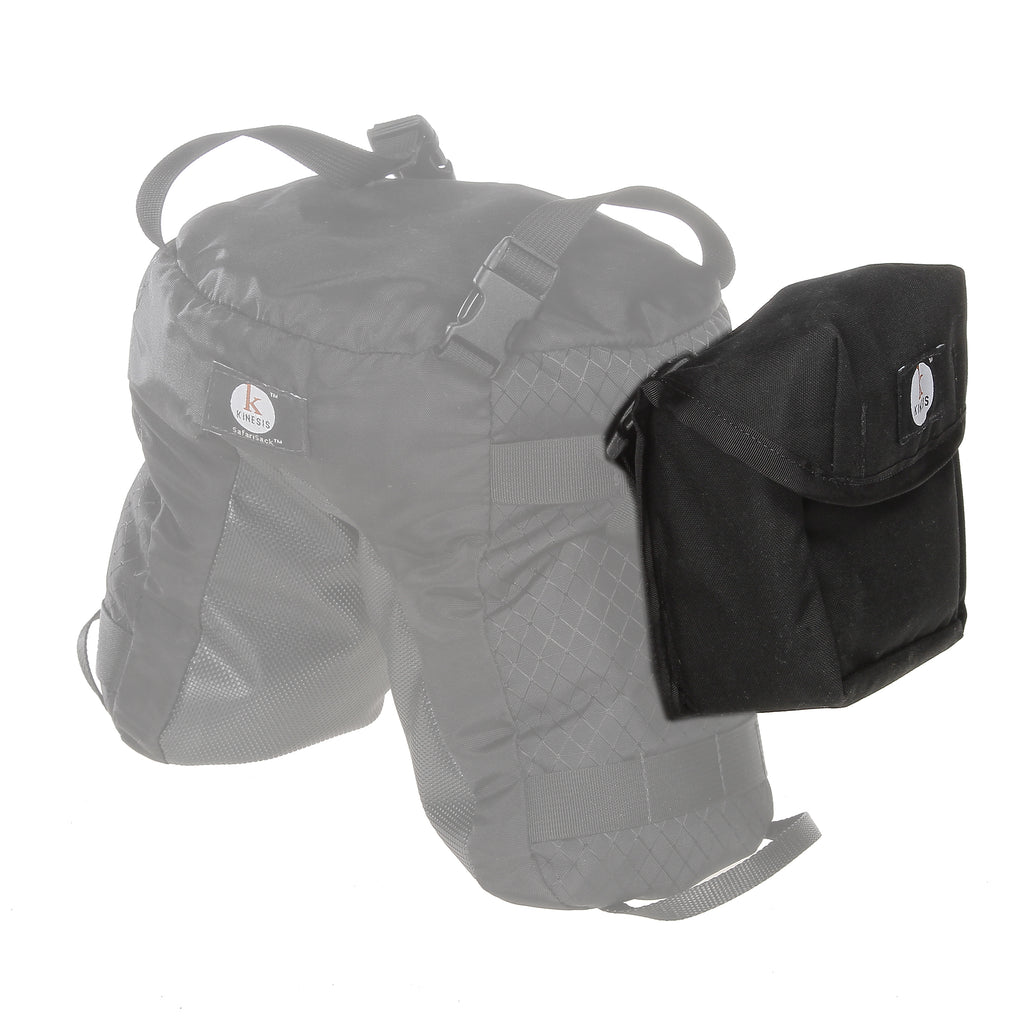 The MOLLE-style webbing slots on the outside allow piggy-backing a pouch (F102/F103 pouch shown).