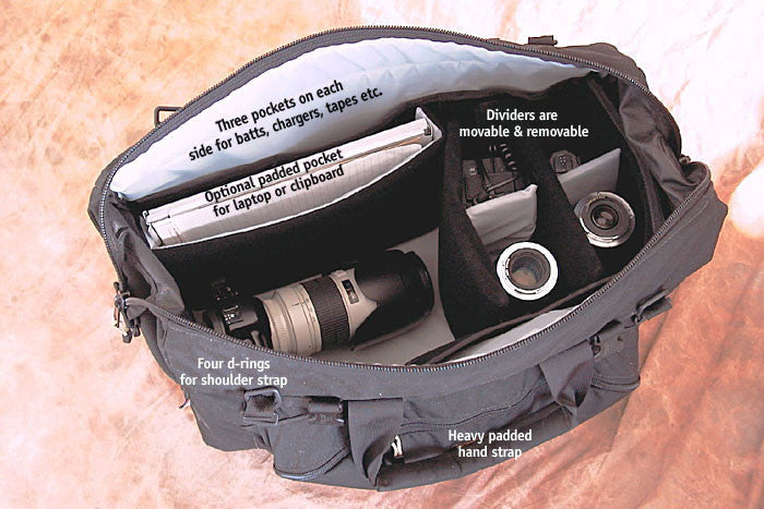 Please note that the bag interior is now made with black nylon fabric, instead of light gray shown in photos.