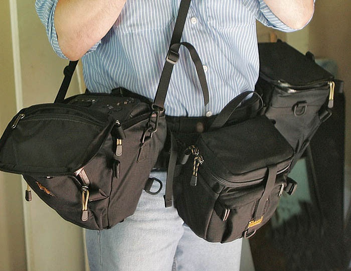 Sling a Y315 (or heavier Y515) shoulder strap across your chest and attach to a holster case for additional support.