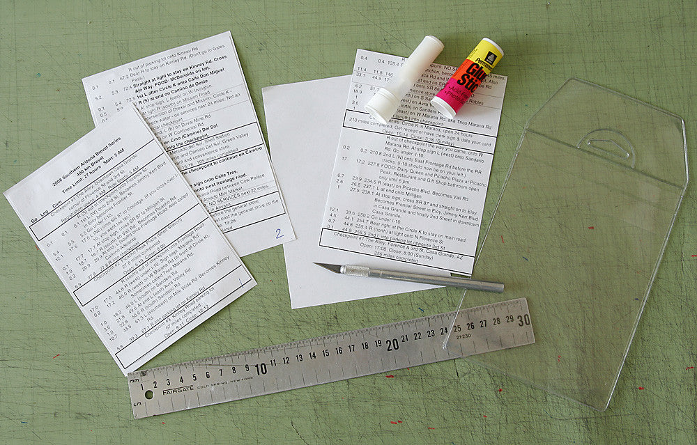 Cue sheet preparation steps are outlined below. Glue stick & tools are NOT included.