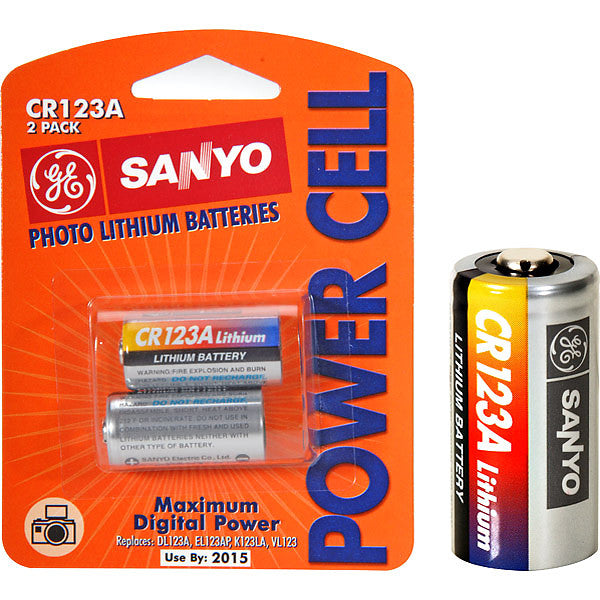 CR123A Photo Lithium Battery (2 pack)