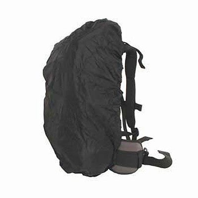 Backpack covers cover the back of the pack, yet are open on one side for access to the shoulder harness & belt.
