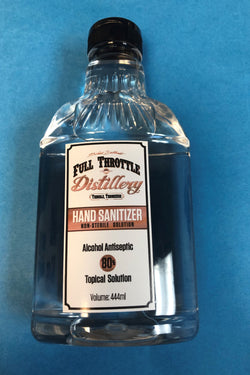 Full Throttle Distillery 80% Alcohol Antiseptic Liquid Hand Sanitizer.