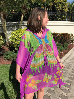 Flying Free Butterfly Chiffon Coverup