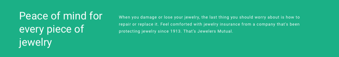 insure your diamond jewelry
