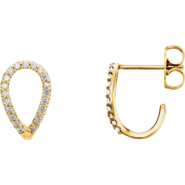 1.5 CTW Diamond Geometric Earrings