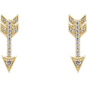 1.6 CTW Diamond Arrow Earrings - SEA Wave Diamonds