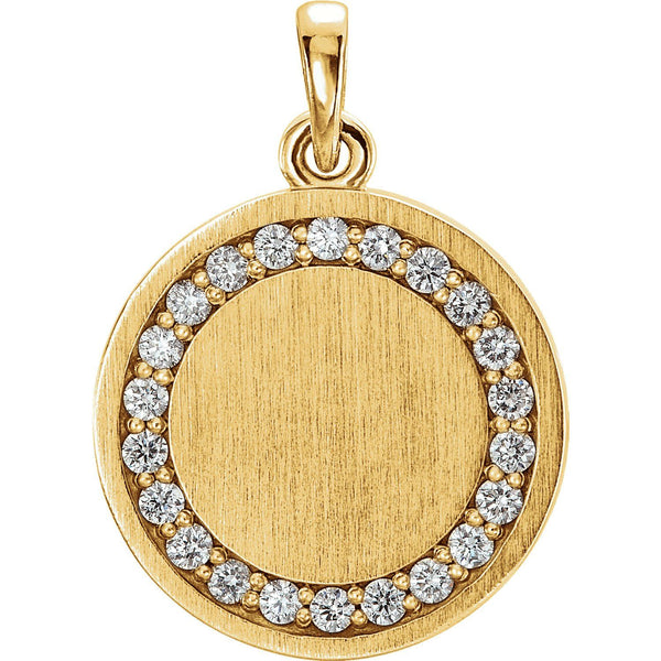 Diamond Engravable Pendant