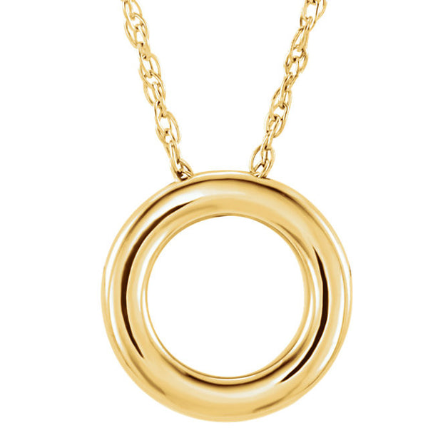 14K Circle Necklace - SEA Wave Diamonds