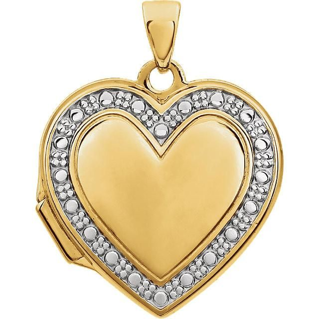 Two Tone Heart Locket