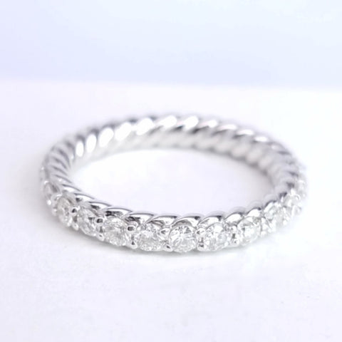 Diamond Eternity Band With A Rope Motif Design - SEA Wave Diamonds