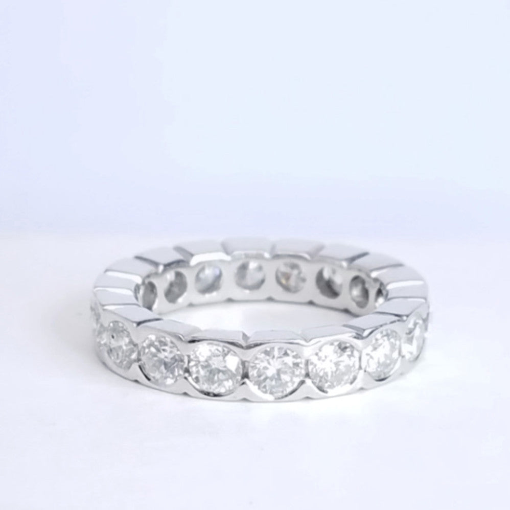 wedding eternity gold product set rose collection in alternating diamond bezel home half bands bubble band